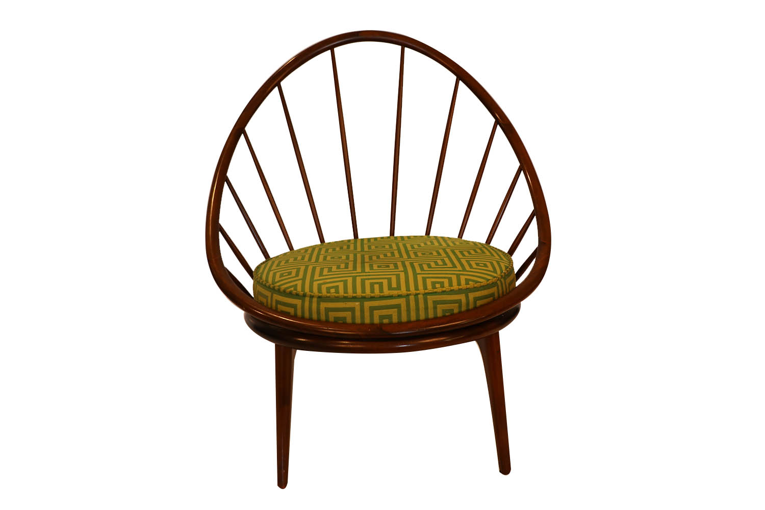 Mid Century Danish Hoop Style Chair With Spindle Back Ib Kofod Larsen For Selig