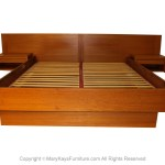 Jesper Danish Modern Teak Queen Platform Bed With Floating Nightstands