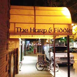 Image of Entrance to Flanagan's Harp & Fiddle in Bethesda, Maryland.
