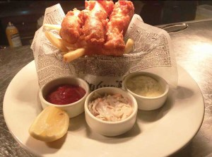 Image of Fish and Chips Platter at Lahinch Grill & Tavern in Potomac, Maryland.