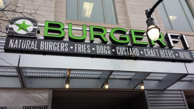 Photo of BurgerFi Storefront, SilverSpring. Courtesy of Yelp.com.