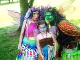 Beautiful Faeries. including Wedji the Goblin, playing at the Maryland Faerie Festival