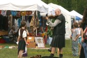 Vendors and Musicians at the Maryland Faerie Festival