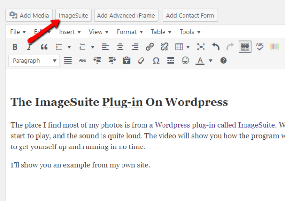 ImageSuite tab