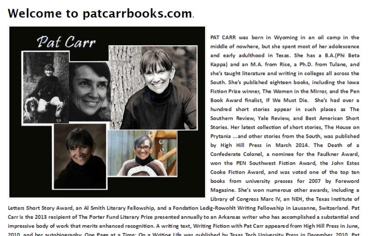 Writing teacher Pat Carr
