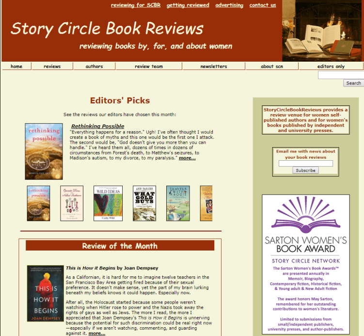 SCN women writers book reviews