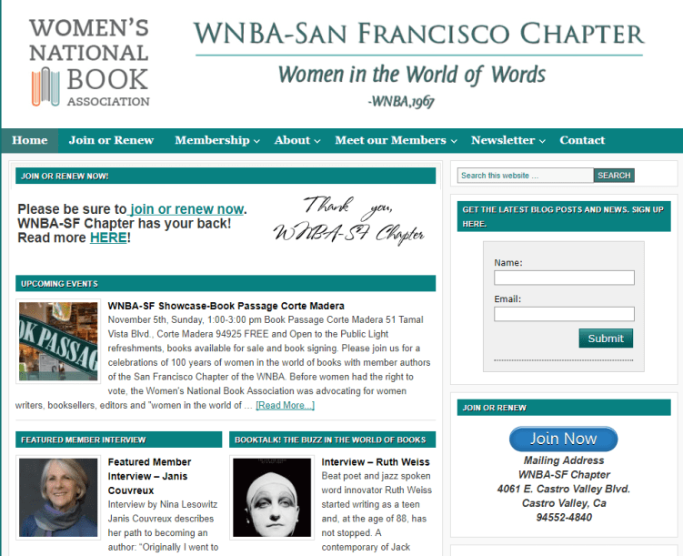 women writers WNBA-SF
