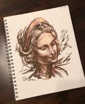 Mary, pastel