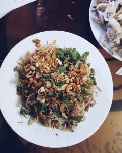 veganer Kochkurs in Hoi An - Banana blossom salad