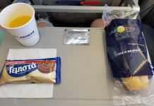 lunch on my flight with Aegean Airlines