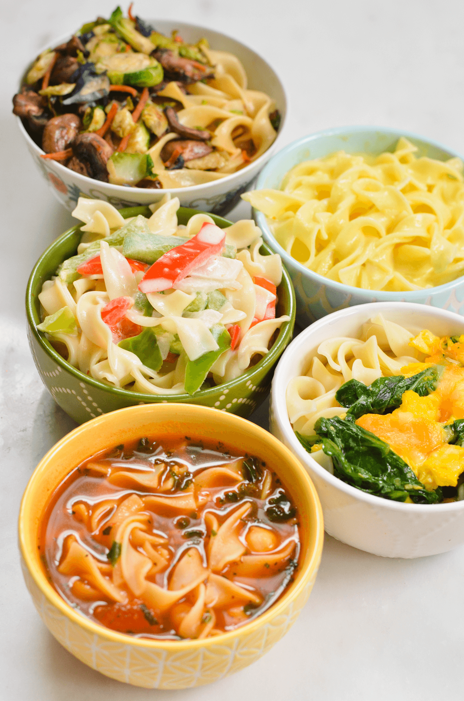 Five 5-Minute Meals Using Egg Noodles