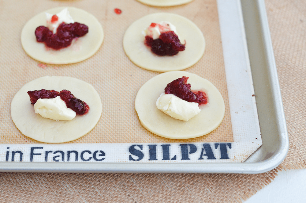 Mini Cranberry Brie Galettes