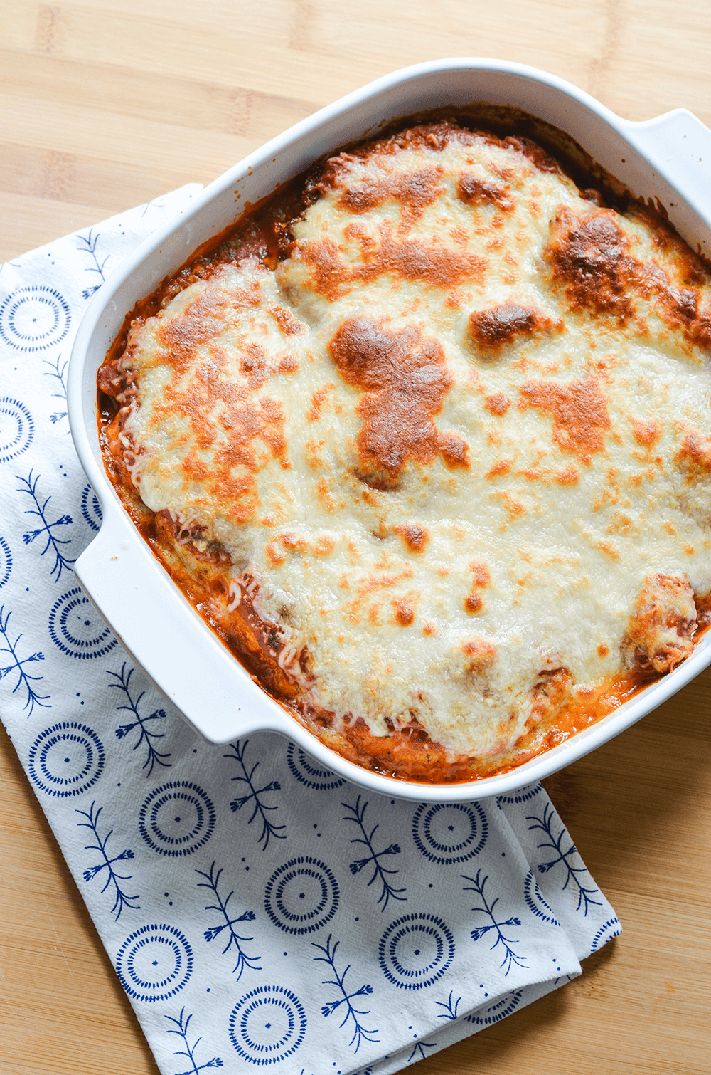 Cauliflower Parmigiana - A hearty vegetarian dinner, perfect for Meatless Mondays!