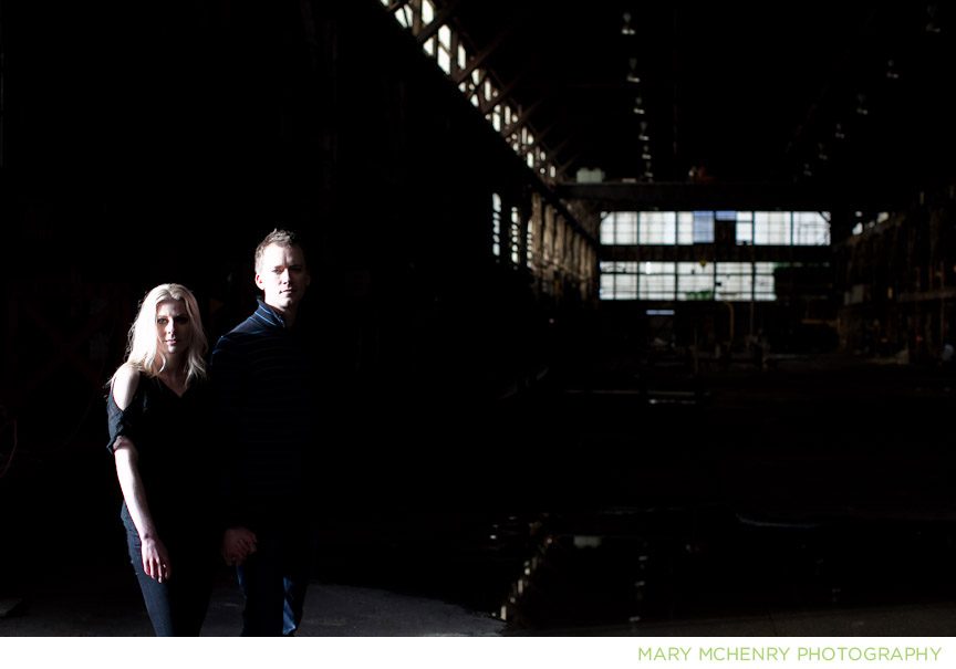 Photo shoot in American Steel Buiding