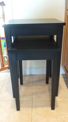 DIY Gold Dipped Side Tables