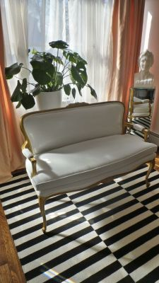 The white settee's facelift reveal!