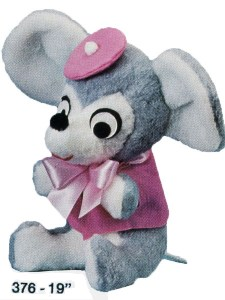 Sitting Mouse with Vest & Hat