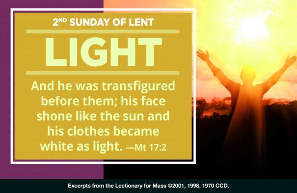 """2nd Sunday Lent """"Light"""" Horiz"""