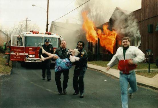 Ed Cope - epic fire photo