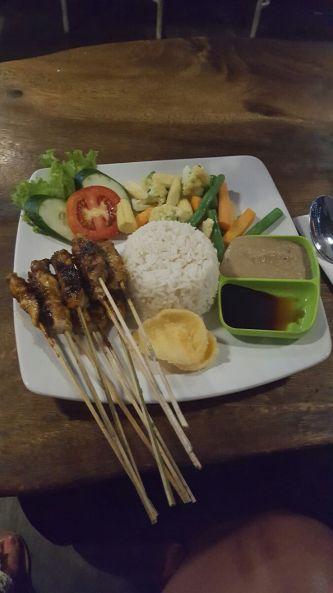 My favorite Indonesian dish called Sate Ayam.