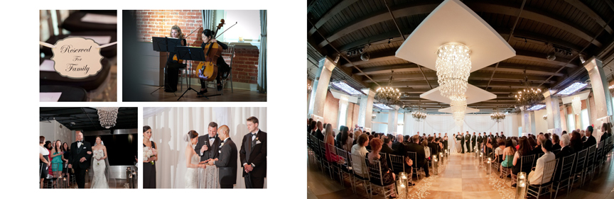 Ceremony at Tedenza Philadelphia Pa wedding