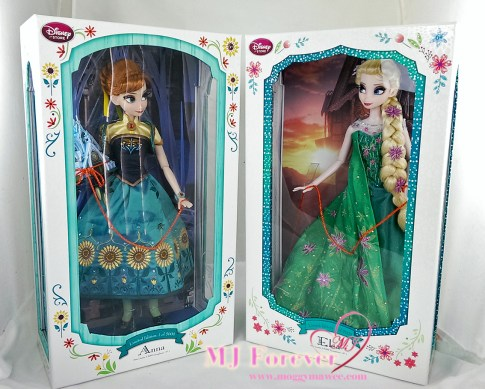 """17"""" Anna and Elsa Frozen Fever Limited Edition doll. LE 5000"""