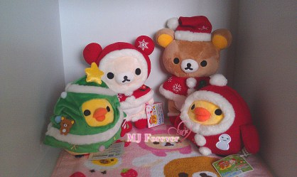 Christmas Rilakkuma plush set (keeping)
