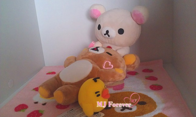 Naughty Korilakkuma plush set