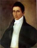 Portrait of a Gentleman by Joshua Johnston. Believed to be a portrait of the Revd Daniel Coker (1780 - 1846), one of the founders of the African Methodist Episcopal Church.