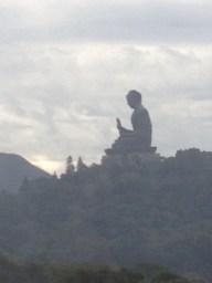 Tian Tan Buddha in the distance