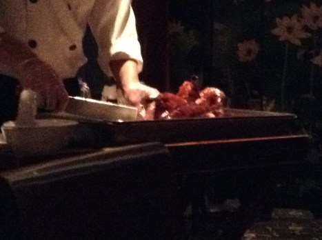 Peking Duck - yes it still had it's head!