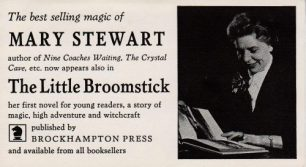 The Little Broomstick bookmark - reverse