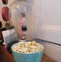 HMQ presiding over the wasabi-flavoured popcorn