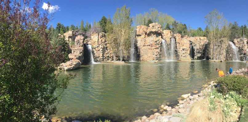The waterfall garden