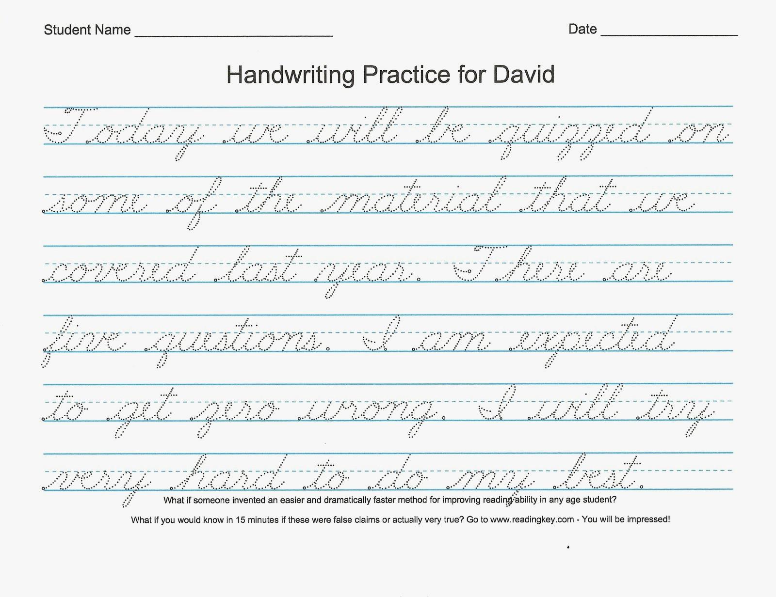What Is Cursive Handwriting Cursive Handwriting Worksheets