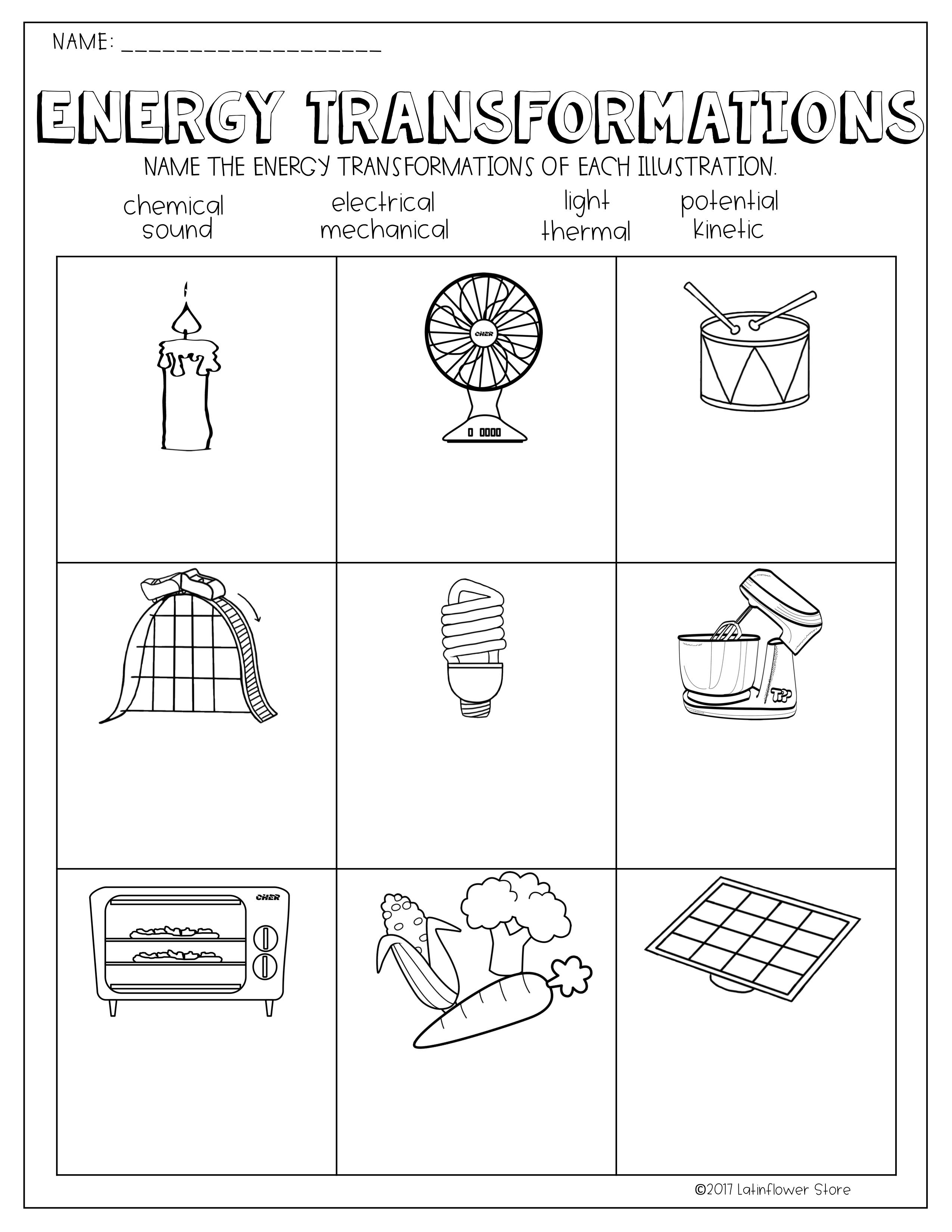 Potential Vs Kinetic Energy Worksheet Worksheets