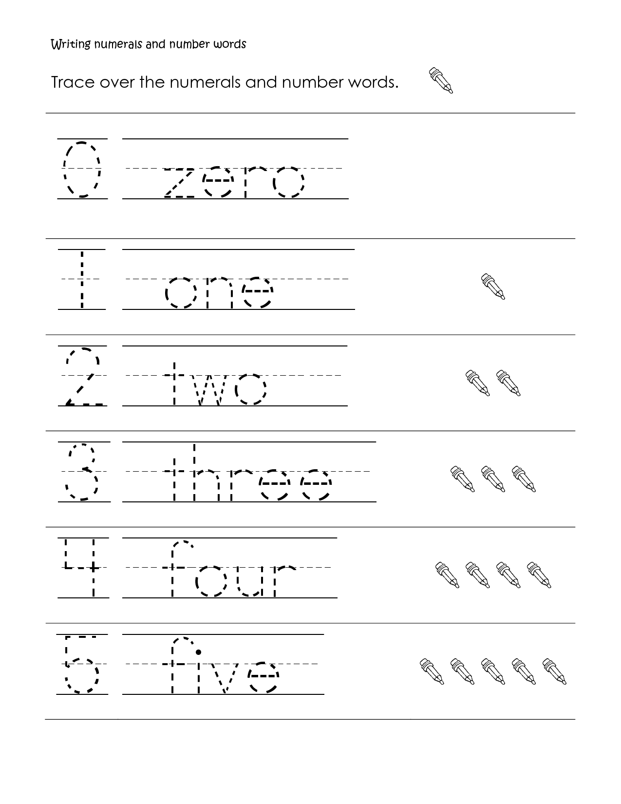 Free Printable 1st Grade Handwriting Worksheets