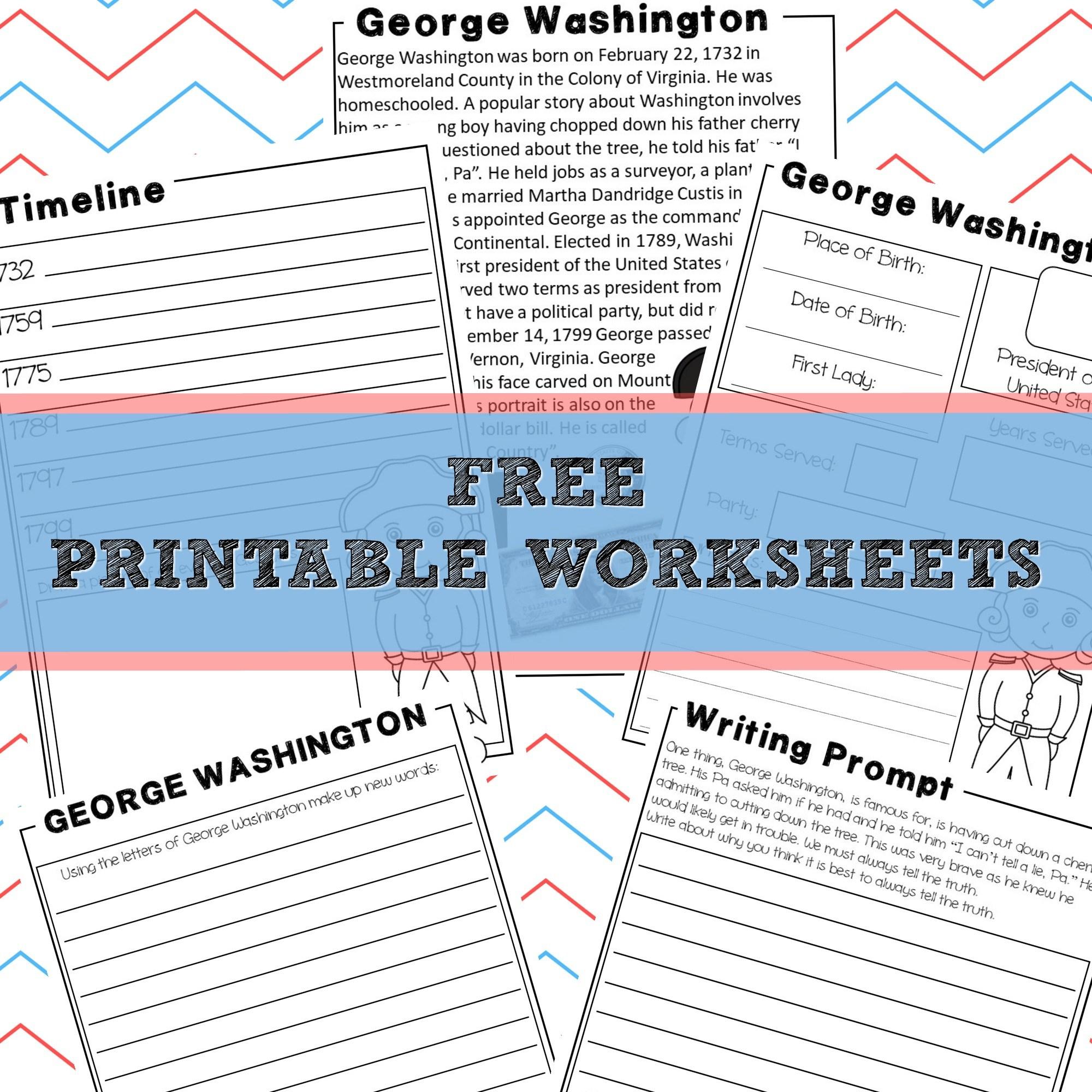 Free President S Day Writing Worksheet