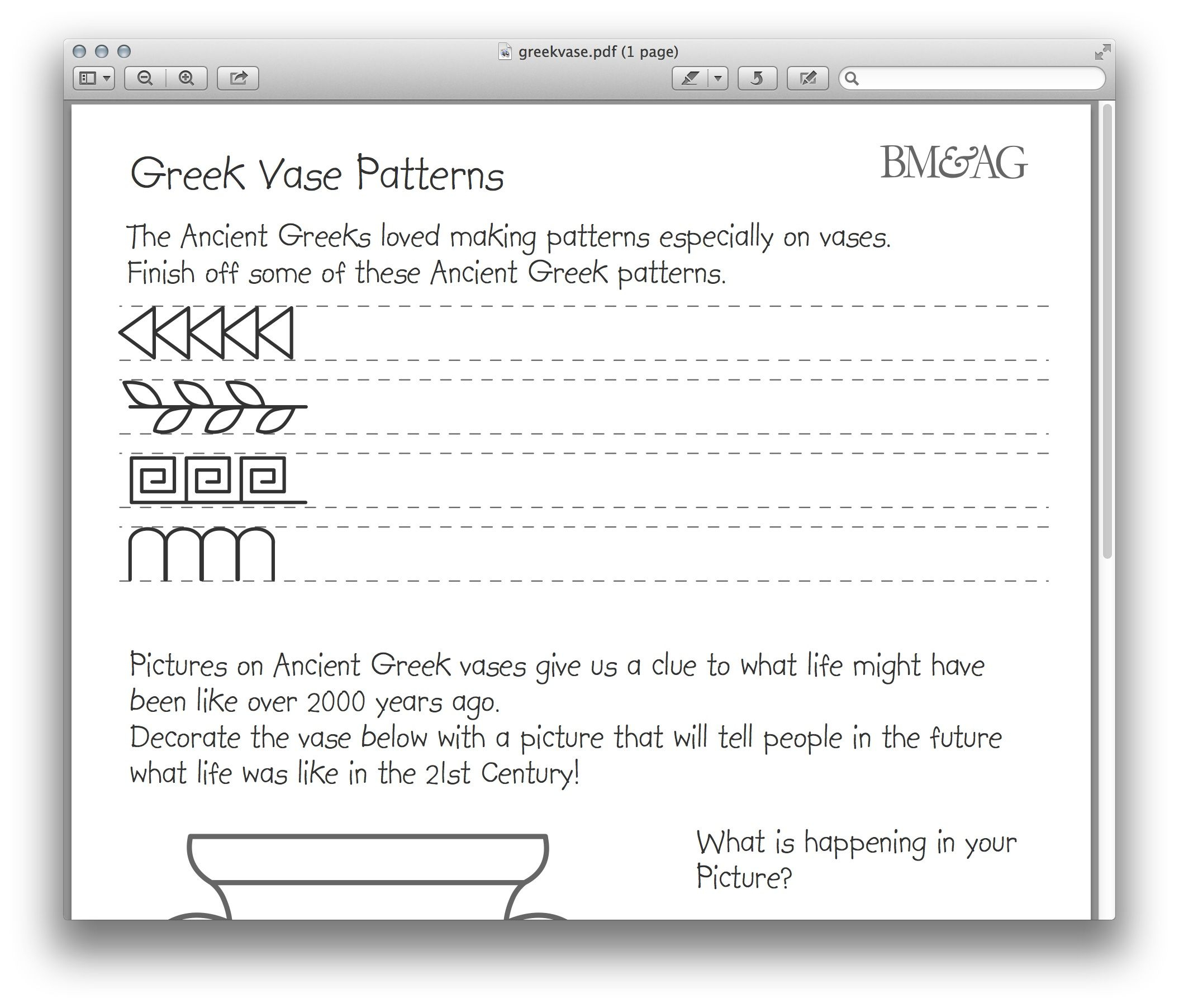 Greek Alphabet Printable Worksheets