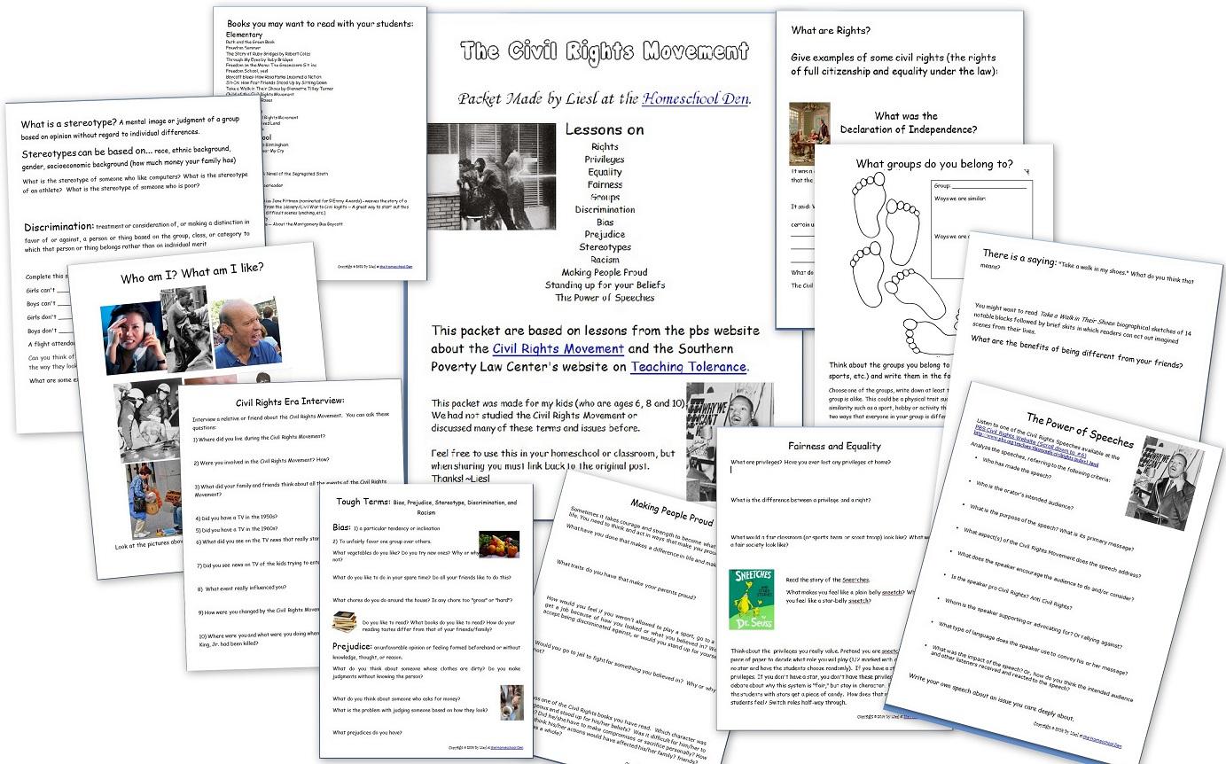 History Of Civil Rights Movement Esl Worksheetobindidon