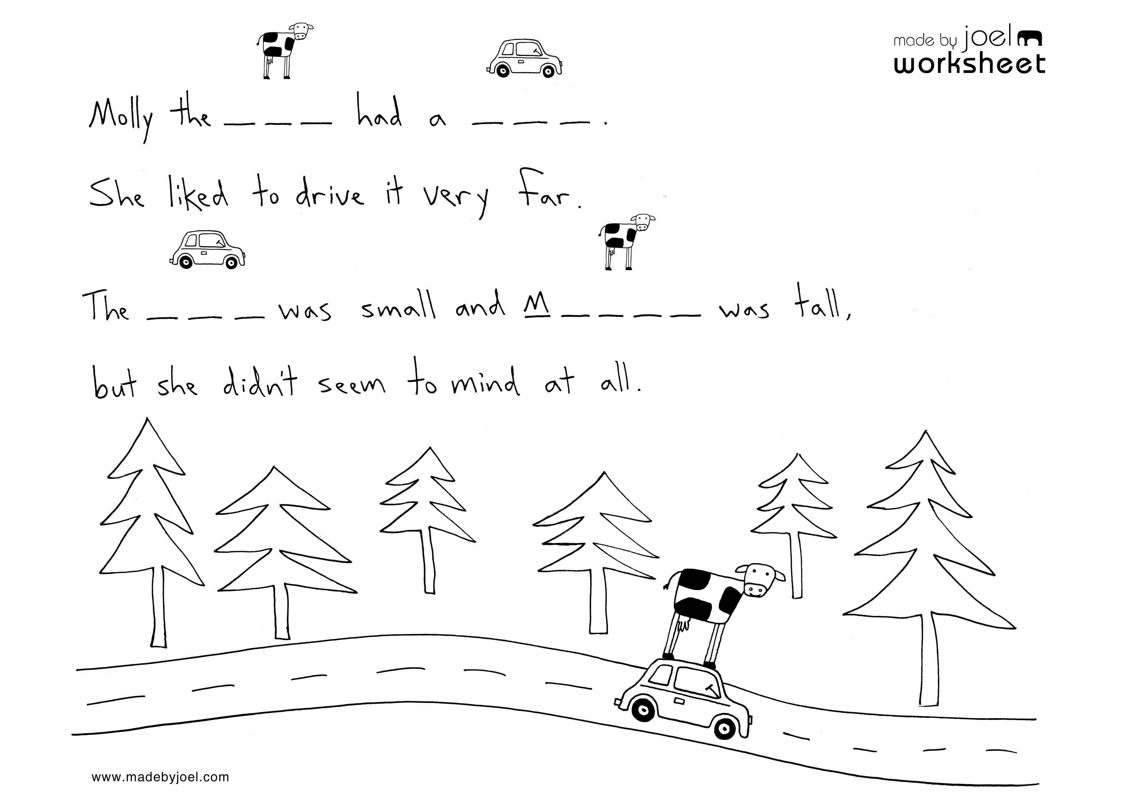 Spelling Worksheets For Kindergarten Printable