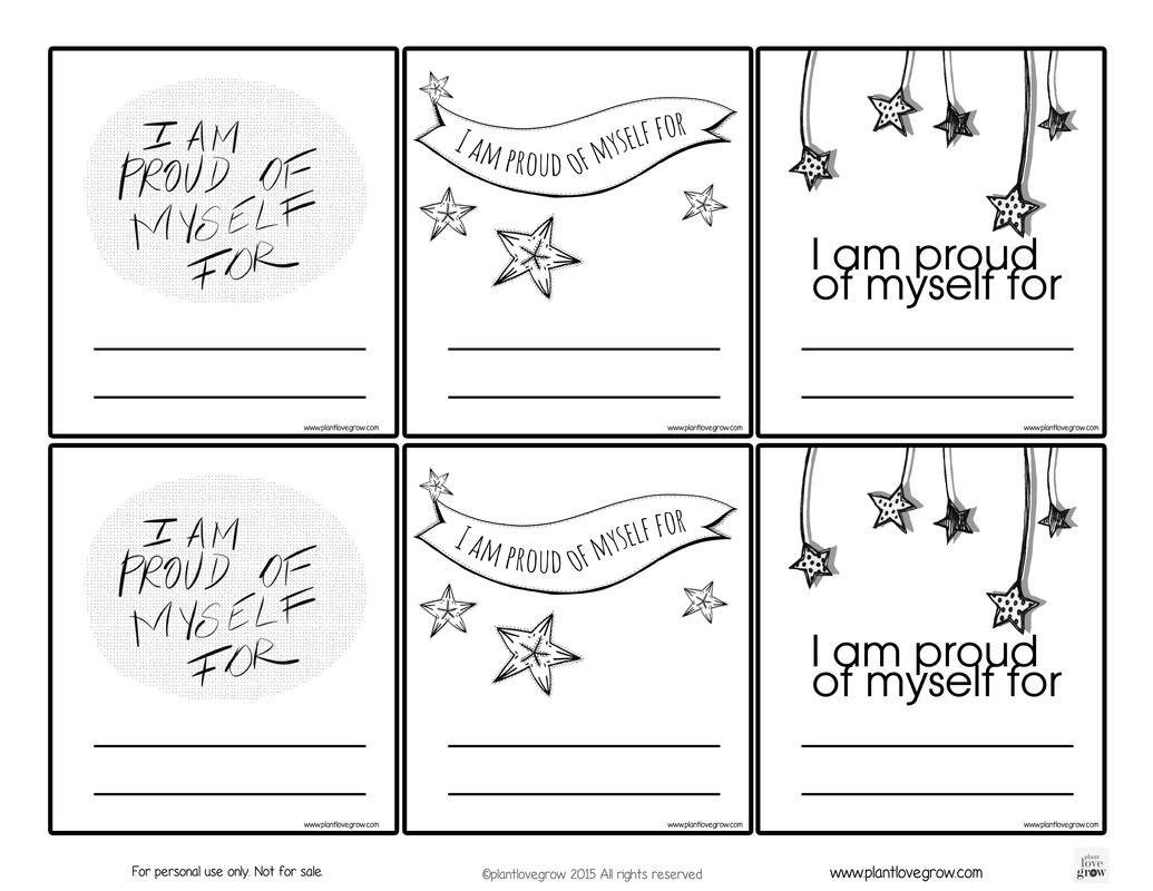 Free Printable Self Esteem Worksheet For Kids