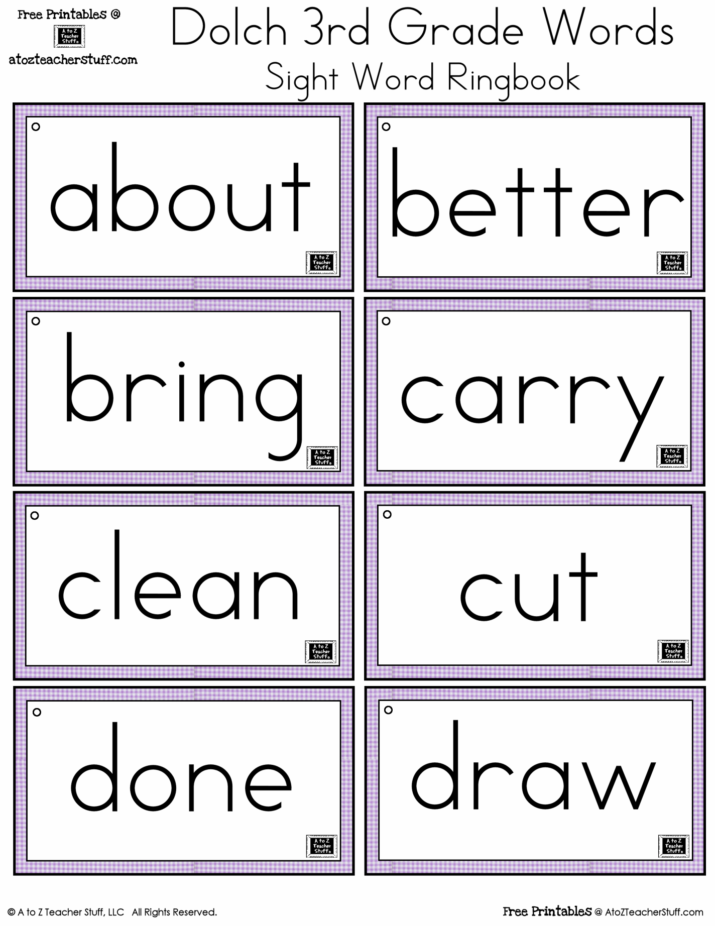Just Sweet And Simple Preschool Practice Printable Dolch