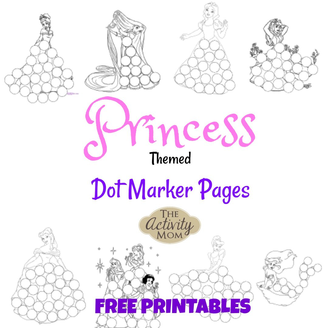 Dot To Dot Printables Princess