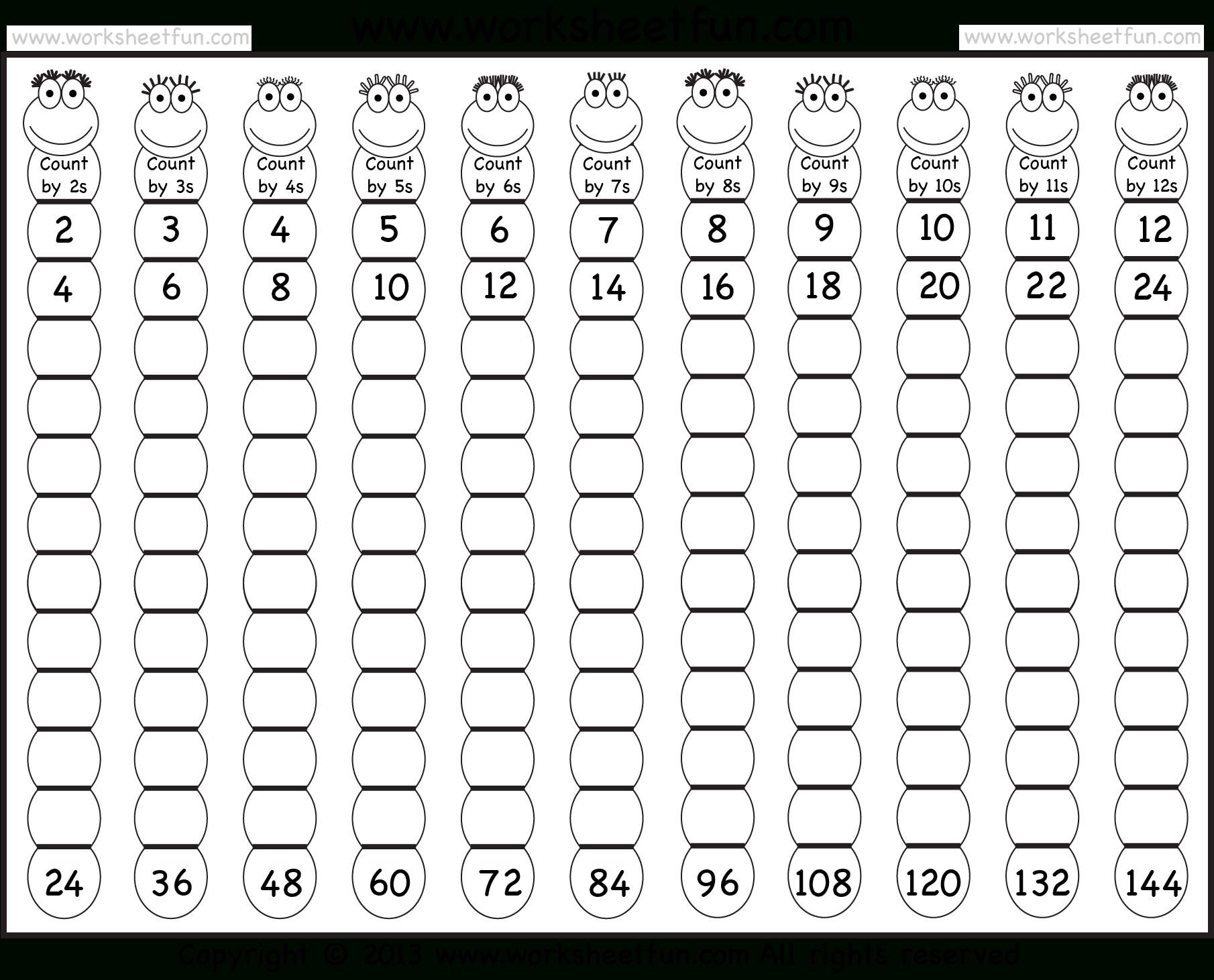 Multiplication Tables 1 12 Printable Worksheets