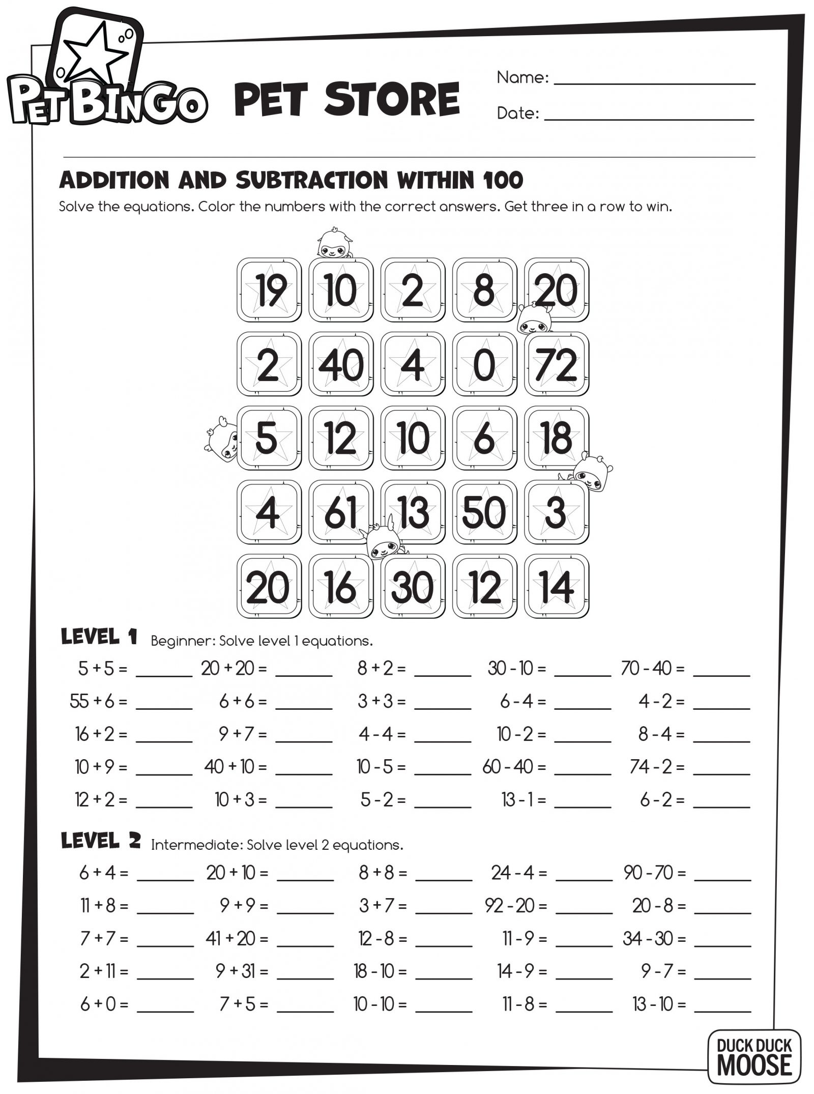 Free Printable Worksheets Keep The Kids Busy During