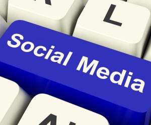 Social Media Computer Key Showing Online Community