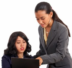 Secretary And Boss Discussing