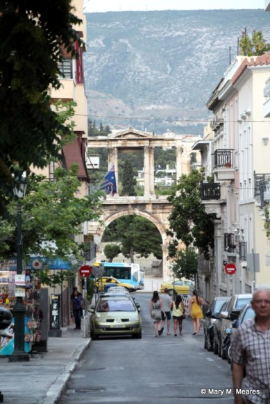 Hadrian's Arch from the Plaka