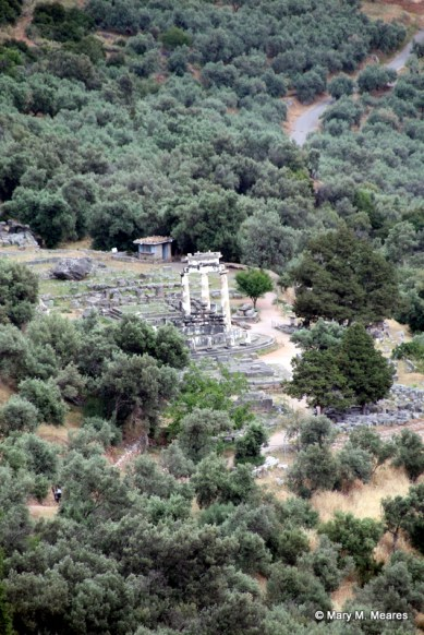 View of the Sanctuary of Athena Pronaia
